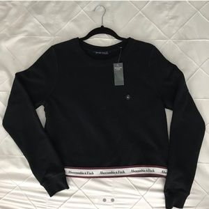 Abercrombie and Fitch cropped black crew neck